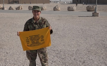 """Master Sgt. Taryn Bullers' Pittsburgh Steelers' """"Shout Out"""""""