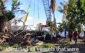 Hurricane Maria Response Crews Conduct Salvage Operations in Las Croabas, Puerto Rico