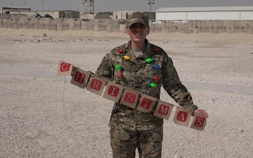 "Staff Sgt. Isela Gonzalez Gives a Christmas/Holiday ""Shout Out"""