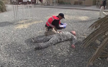 Area Support Group Kuwait Conducts Mass Casualty Exercise