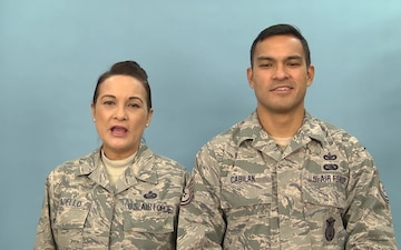 Senior Master Sgt. Vickie Padello and Technical Sgt. Robert Cabilan