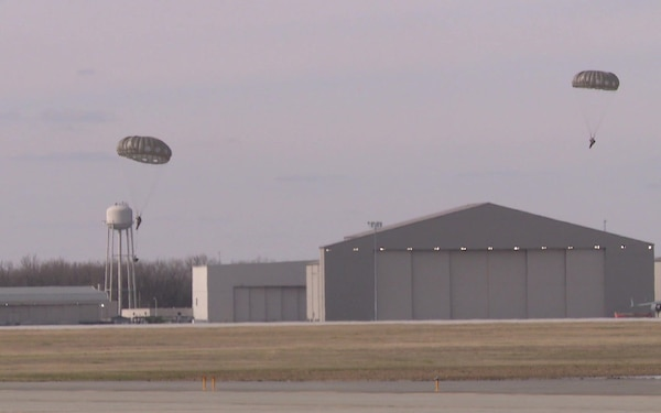 Army Jump at Wright-Patterson Air Force Base