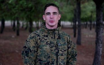 Sgt. Morgan Thomason sends greeting to Florida