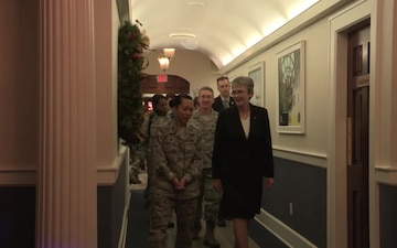 Secretary of the Air Force visits Air University, Maxwell AFB