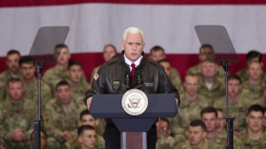Vice President Visits Troops at Bagram Airfield