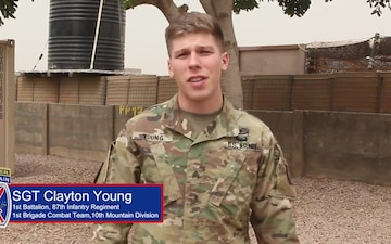 Deployed Soldier Holiday Message from Cameroon