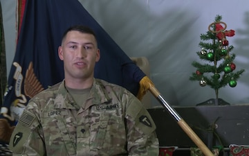 SPC Jose Lopez Holiday Greetings Azle, TX
