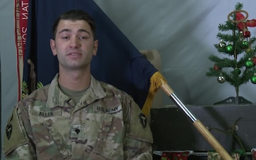 SPC Eric Allen Holiday Greetings Fort Worth, TX