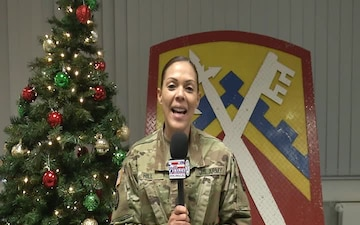 Command Sgt. Maj. Carla Hill sends greetings to family