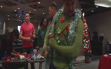"Marines, sailors get ""ugly"" with Christmas sweater contest (Package/Pkg)"