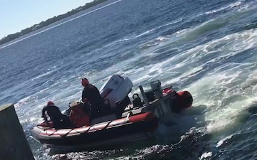 Coast Guard rescues man from sinking car
