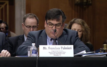 Francisco Palmieri Testifies Before the Senate Foreign Relations Committee