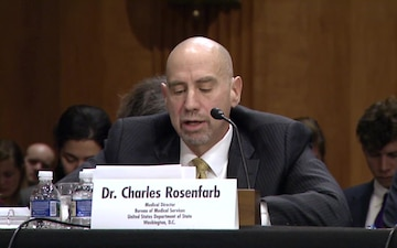 Dr. Charles Rosenfarb Testifies Before the Senate Foreign Relations Committee
