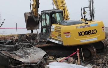 Northern California wildfire debris removal mission