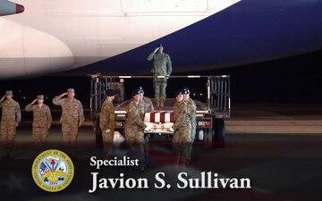 Army Spc. Javion S. Sullivan -- Dignified Transfer