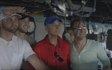 Tim Tebow Visits USS Chung-Hoon