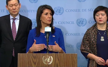 U.N. Security Council Media Stakeout: Security Council President Umarov and U.S. Amb. Haley on the Security Council Mission to Afghanistan