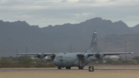 189th AW C-130 AMP Arrival