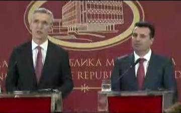 NATO Secretary General visits former Yugoslav Republic of Macedonia, Joint Press Conference