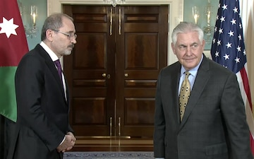 Secretary of State Rex Tillerson meets with Jordanian Foreign Minister Ayman Safadi