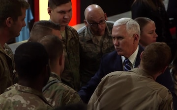 Vice President Mike Pence visits the 332nd Air Expeditionary Wing B-Roll