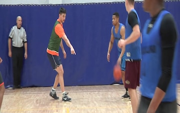 Iwakuni ballers dribbled their way to camaraderie on Martin Luther King Jr. Day (Package/Pkg)