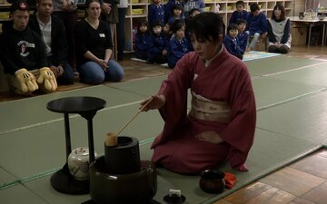 Service Members from MCAS Iwakuni Learn Japanese Tea Ceremony from Local Preschoolers (B-Roll)