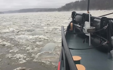Coast Guard cutters continue to break ice on the Connecticut River