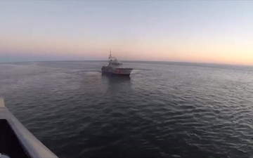 Coast Guard assists fishing boat taking on water near Hatteras Inlet, NC