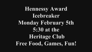 2018 Hennessy Award icebreaker