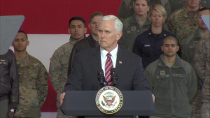 Vice President Pence Troop Talk at Yokota Air Base