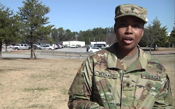 Spc. Brittany Bernard - A role model to her daughter