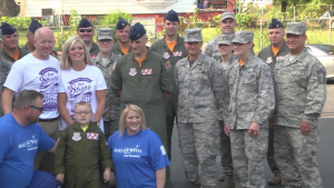 Airmen Visit Rockford Boy with Rare Illness