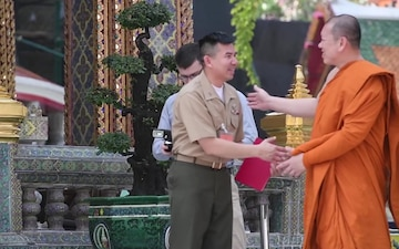 Cobra Gold 18: U.S. Navy and RTAF Chaplains meet Supreme Patriarch of Thailand