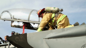 Firefighters Train for Aircrew Evac (News Story)