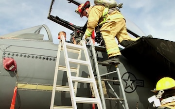 332 ECES Fire Protection Flight Participate in Emergency Egress Training (B-Roll)
