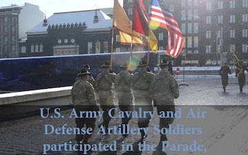 US Army Marches in Estonia's Independence Day Parade (Social Media)