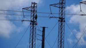 Restoring the electrical grid from the air -- transmission towers