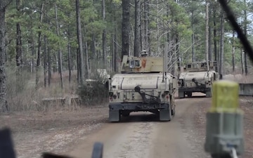 Civil affairs road convoy at JRTC B-roll