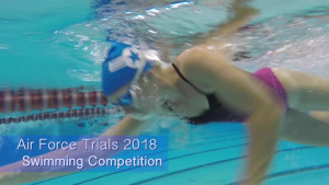 Air Force Wounded Warrior Trials 2018 Swimming