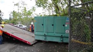 Corps installs temporary power generator at Puerto Rico school
