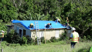 Blue Roof install in Puerto Rico
