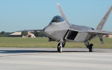 F-22 Taxi on the Flight Line