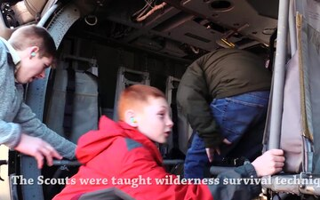 Arkansas National Guardsmen Train Boy Scouts on Wilderness Survival