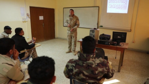 Iraqi Army Instructor for the Conventional Munitions Disposal Course