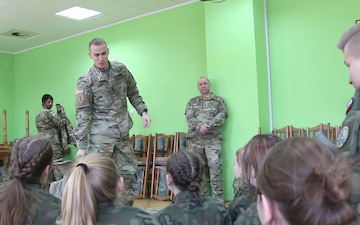 Polish Cadets learn from US Soldiers during Rzepin School Visit  (Social Media)