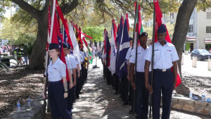 Airmen participate in the Heroes of the Alamo ceremony