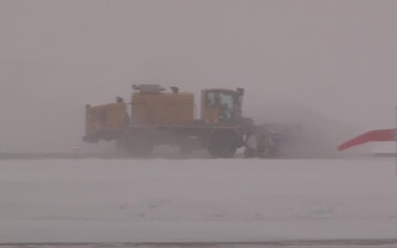 Iowa Air Guard Civil Engineers clear March snow