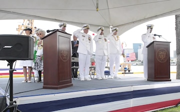 B-roll: Coast Guard commissions Hawaii's second Sentinel-class cutter