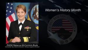 Rear Adm. Rebecca J. McCormick-Boyle on Women's History Month